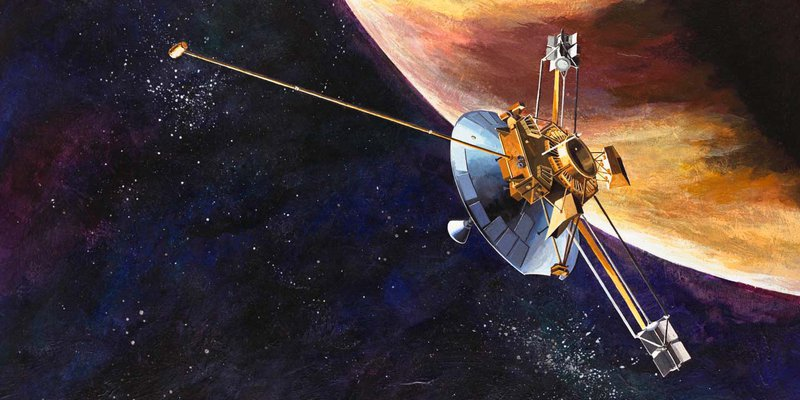 Illustration of the Voyager Space Probe