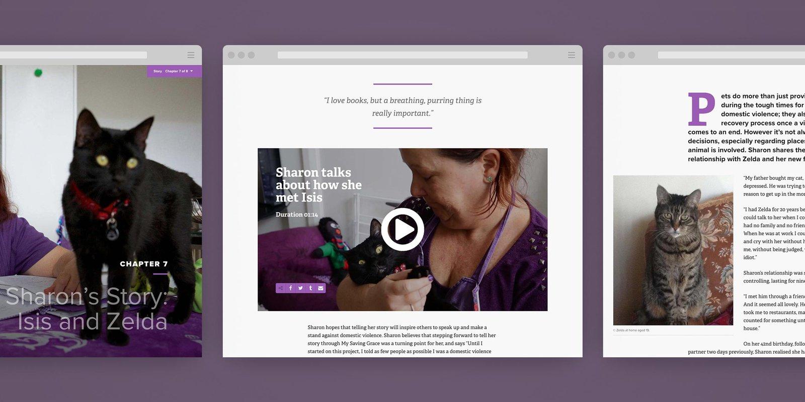 Screenshots of My Saving Grace website