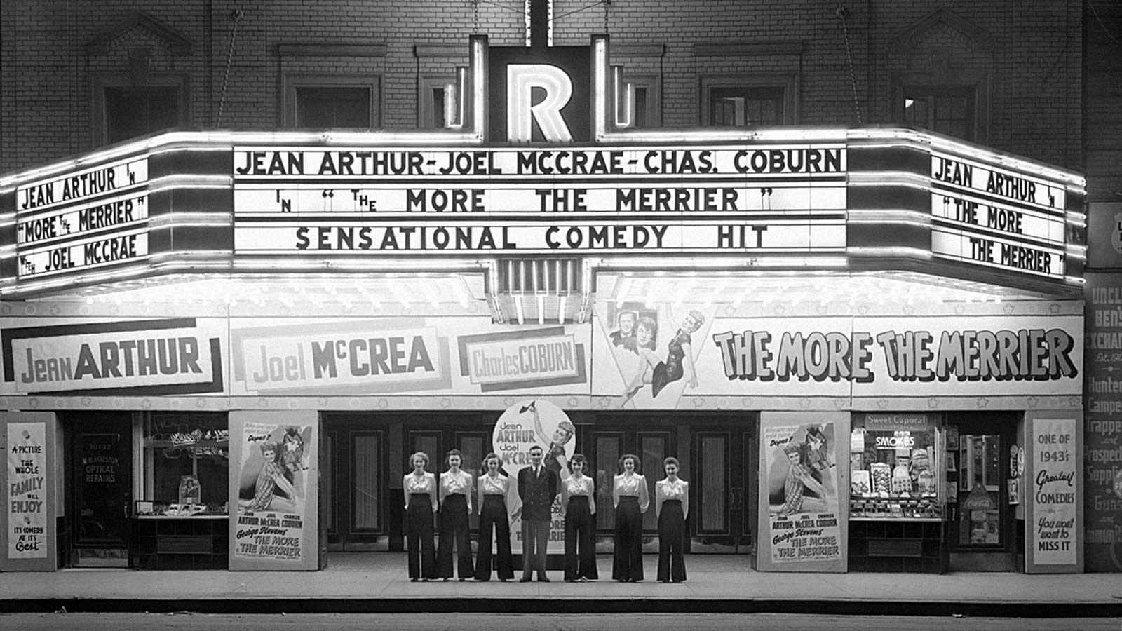 Movie theatre entrance circa 1950's