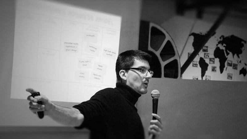 Alexander Osterwalder giving a talk