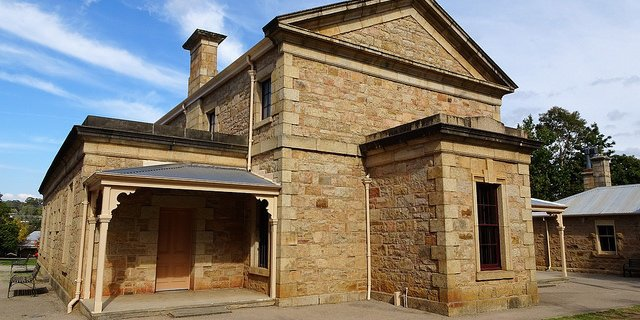 Old sandstone building housing a small museum in regional Australia