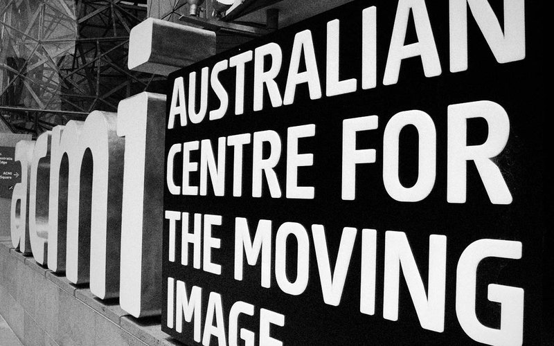 Signage at the entrance to the Australian Centre for the Moving Image