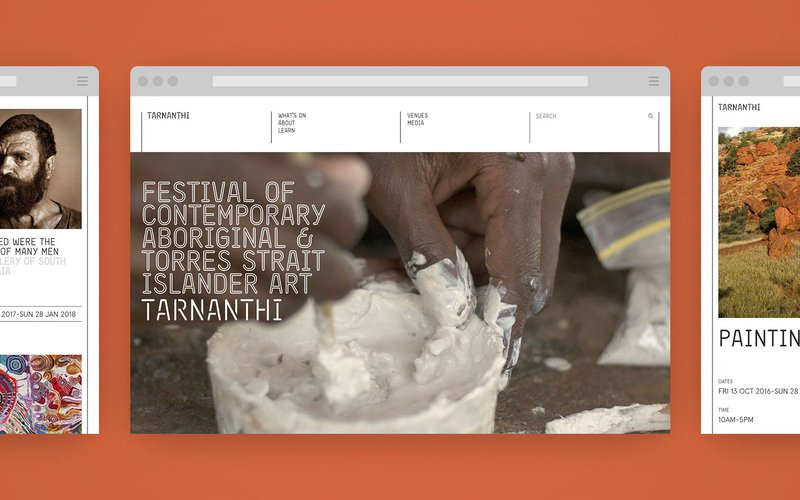 Screenshots of the TARNANTHI website