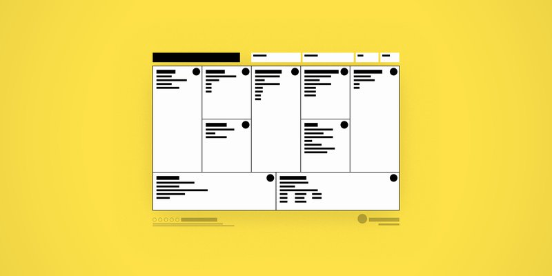 Business Model Canvas wireframe