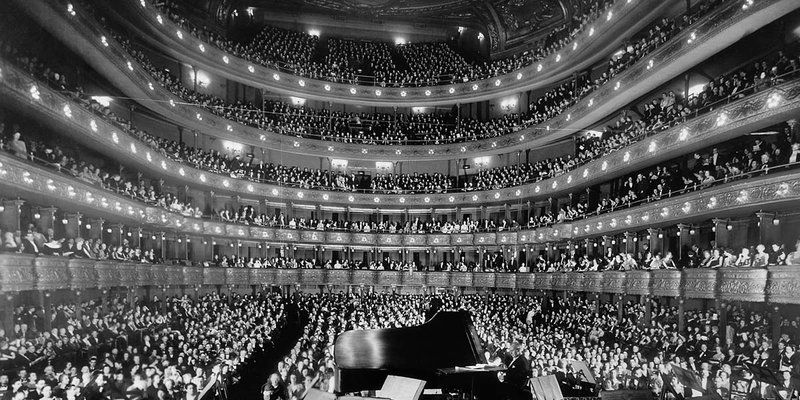 Interior photo of the Met Opera