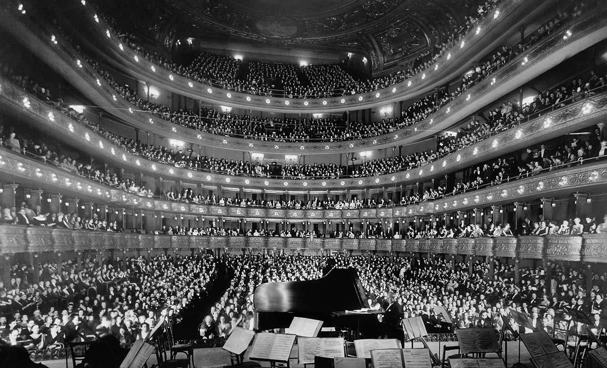 Interior photo of the Met Opera